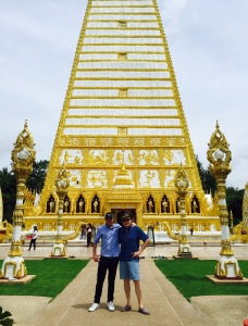 Ben with his First Cousin Once Removed at the impressive Wat Nong Bua in Ubon Ratchathani.