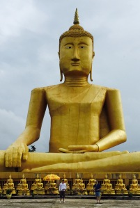 This immense stone Buddha awaits you in Pakse