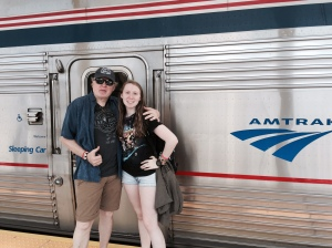 The Amtrak is a  double- decker