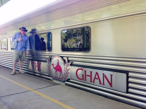 The Ghan is a long slow train