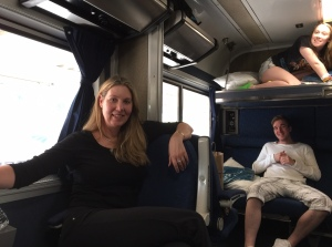 Sleeping arrangements with my first cousin once removed on the Amtrak Auto Train