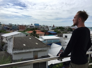 Splendid view of Surin from the Maneerote Hotel $12 room's balcony.